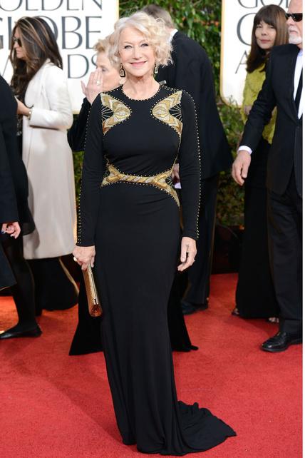 Helen Mirren intentó rejuvenecerse y desmelenarse pero salió perdiendo respecto a otros eventos...