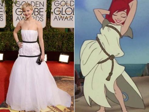 De la pobre Jennifer Lawrence bastantes bromas se han hecho ya y aunque me he reído mucho, la verdad es que no lo veo para tanto en comparación con otras monstruosidades.