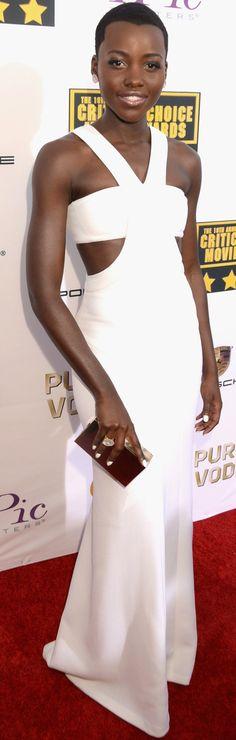 Mejor vestidas 2014 - Lupita Nyongo - Calvin Klein
