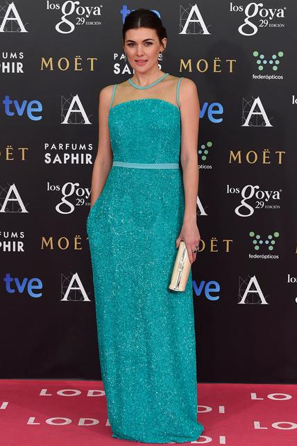 Marta Nieto escogió un vestido turquesa sencillo pero precioso.