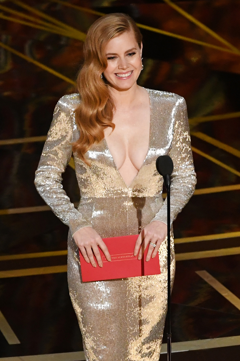 HOLLYWOOD, CA - FEBRUARY 26: Actor Amy Adams speaks onstage during the 89th Annual Academy Awards at Hollywood & Highland Center on February 26, 2017 in Hollywood, California. (Photo by Kevin Winter/Getty Images)