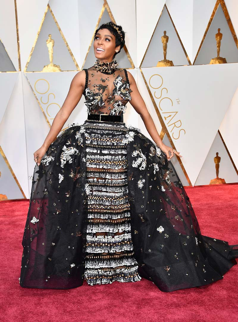 r/singer Janelle Monae attends the 89th Annual Academy Awards at Hollywood & Highland Center on February 26, 2017 in Hollywood, California. (Photo by Frazer Harrison/Getty Images)