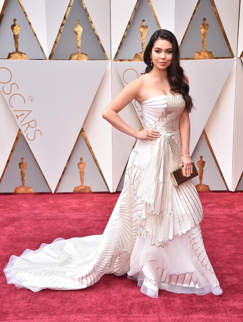 HOLLYWOOD, CA - FEBRr Auli'i Cravalho attends the 89th Annual Academy Awards at Hollywood & Highland Center on February 26, 2017 in Hollywood, California. (Photo by Kevin Mazur/Getty Images)