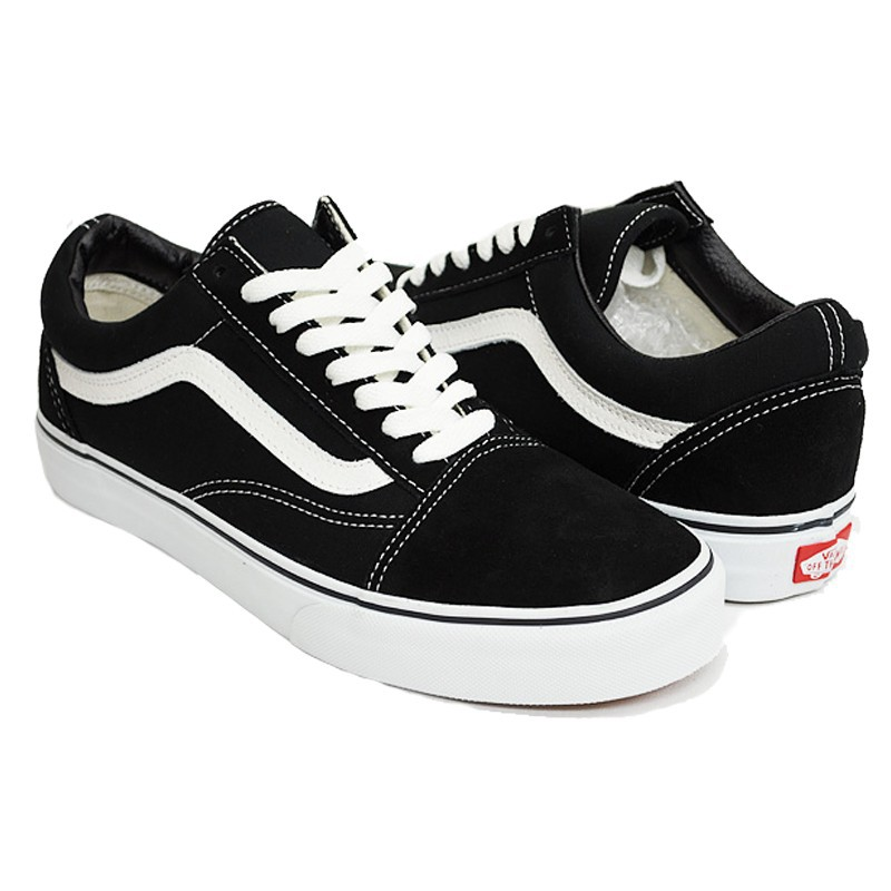 old school vans negras