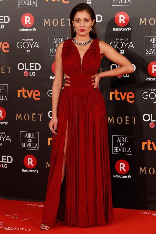 Hiba Abouk Alaia alfombra roja Goya 2018