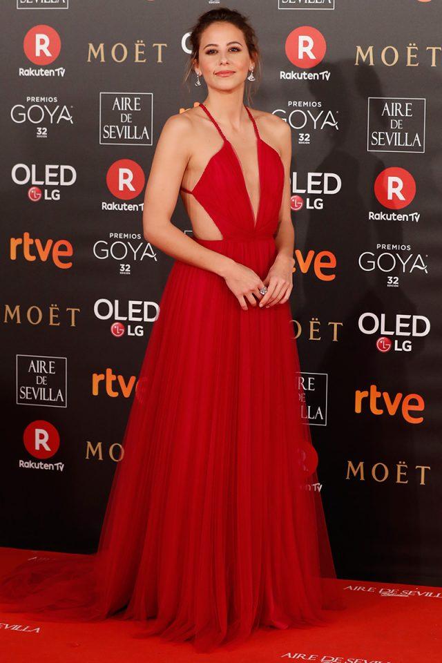 Irene Escolar Santos Costura alfombra roja Goya 2018