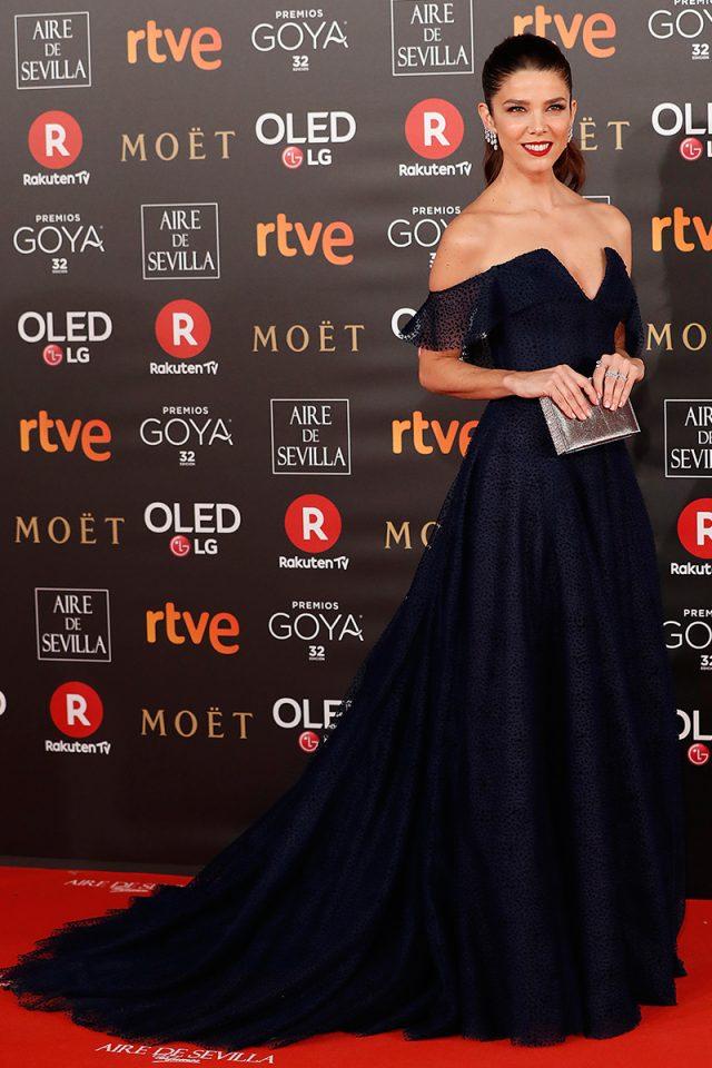 Juana Acosta PdH alfombra roja Goya 2018
