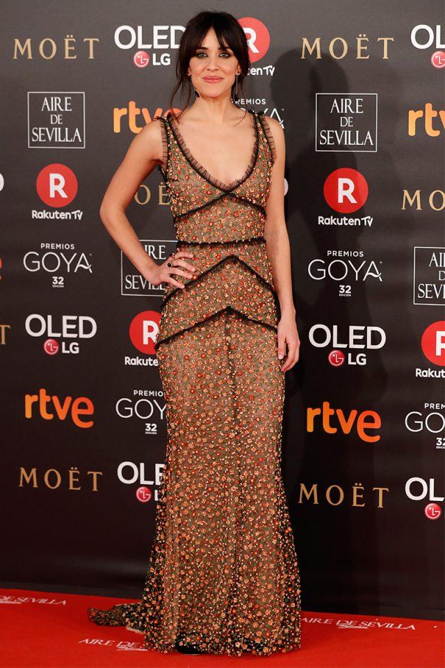 Macarena García Dsquared2 alfombra roja Goya 2018