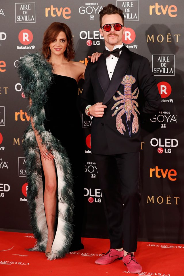 Macarena Gomez alfombra roja Goya 2018