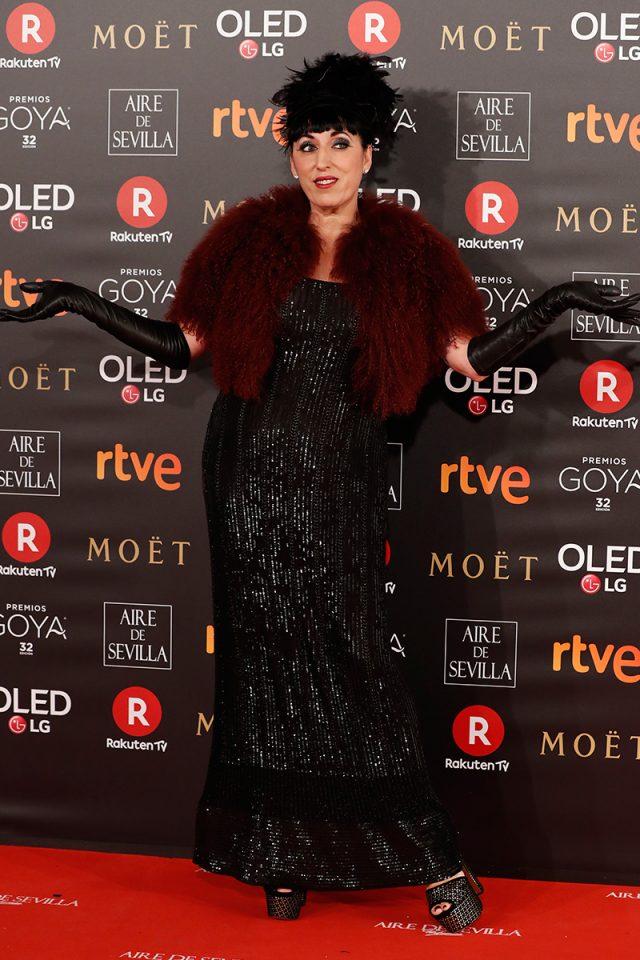 Rossy de Palma alfombra roja Goya 2018