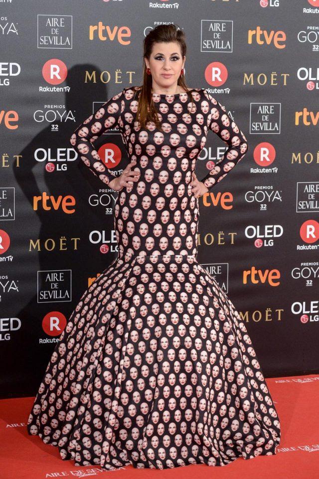 Terremoto alfombra roja Goya 2018